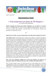 Interview Sida Info Service - ISM Interprétariat