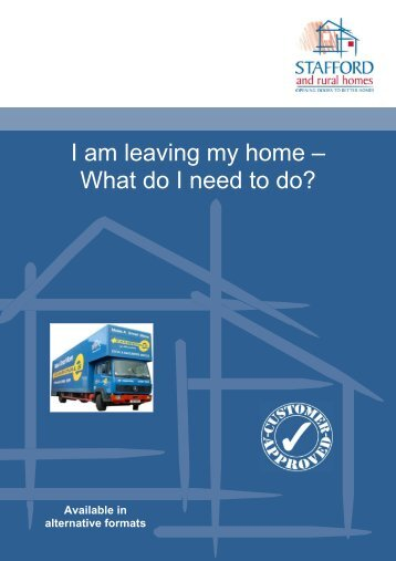 I am leaving my home – What do I need to do? - Stafford and Rural ...