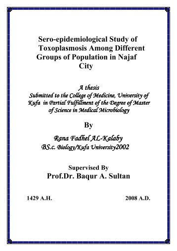 Sero-epidemiological Study of Toxoplasmosis ... - University of Kufa