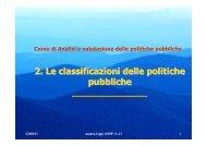2. Le classificazioni delle politiche pubbliche - CIRES