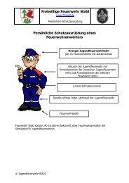 Freiwillige Feuerwehr Wald Persönliche Schutzausrüstung eines ...