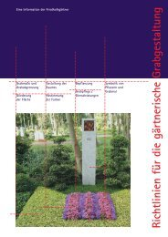Richtlinien für die gärtnerische Grabgestaltung