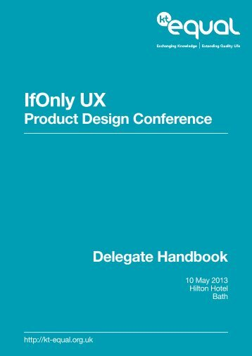 Delegate Handbook - KT-EQUAL