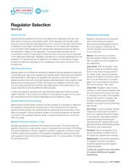 Regulator Selection Guide - Air Liquide America Specialty Gases