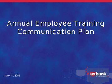 Annual Employee Training Communication Plan Annual Employee ...