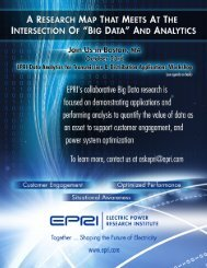 EPRI Data Analytics Workshop