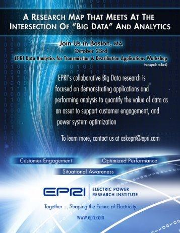 EPRI Data Analytics Workshop