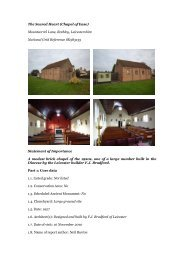 Rothley, Sacred Heart - Diocese of Nottingham