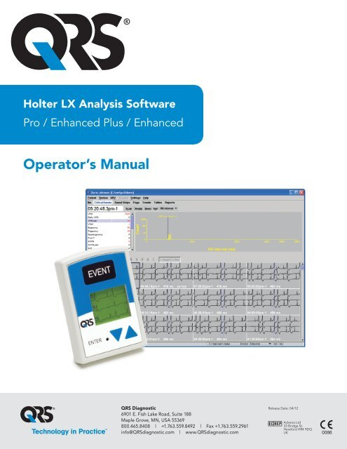 Holter LX Analysis Software Manual - QRS Diagnostic