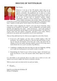 Gift Aid (Central July 2013) - Diocese of Nottingham