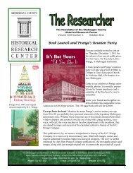 October 2011 - Sheboygan County Historical Research Center