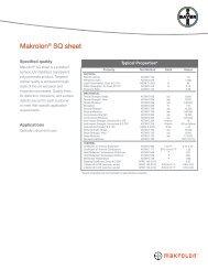 Makrolon® SQ sheet - Sheffield Plastics