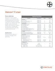 Makrolon® FI sheet - Sheffield Plastics