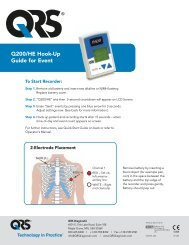 Q200/HE Hook-Up Guide for Event - QRS Diagnostic