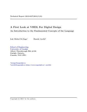 VHDL PDF PRIMER BHASKAR