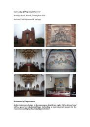 Nottingham, Bulwell, Our Lady of Perpetual Succour - Diocese of ...