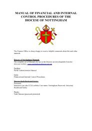 Manual of Fiancial & Internal Control Procedures - Diocese of ...