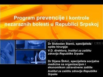 Program prevencije i kontrole nezaraznih bolesti u ... - Fondacija fami