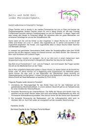 Programm Pfingsferien 2012 2. Woche - Feriendorf Tieringen