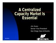 A Centralized Capacity Market Is Essential