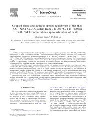 Coupled phase and aqueous species ... - geochem-model.org
