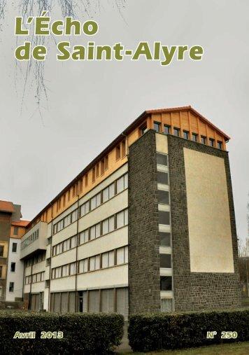 L'Echo de Saint-Alyre en ligne - CRDP de l'académie de Clermont ...