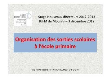 Diaporama Sorties scolaires - CRDP de l'académie de Clermont ...