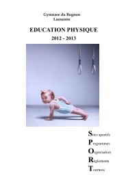 Brochure Sports 2012-2013 - Gymnase du Bugnon