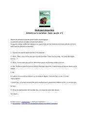 Eliott peut mieux faire Activité sur la narration : Texte puzzle n°1