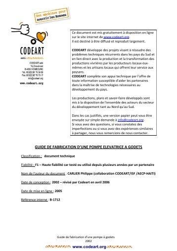 2006-Guide fabrication pompe à godets - Codéart