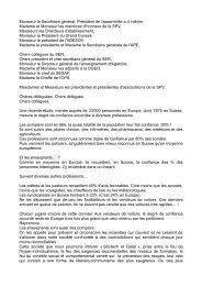 Intervention du Président de la SPV devant l'AD 2013. - Société ...
