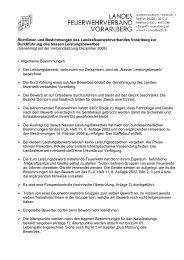 Richtlinien und Bestimmungen des ... - Feuerwehr St Gerold