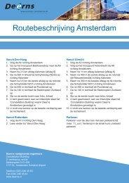 Routebeschrijving Amsterdam - Deerns