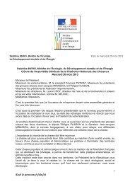 Chasse discours DB 2013-03-20 - Ministère du Développement ...