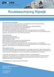 Routebeschrijving Rijswijk - Deerns