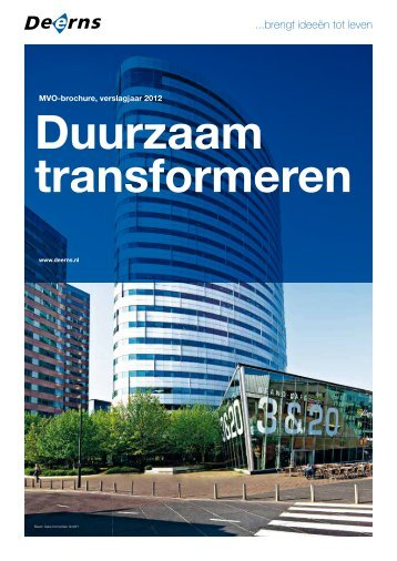 MVO-brochure 2012 Duurzaam transformeren - Deerns