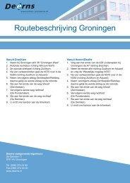 Routebeschrijving Groningen - Deerns