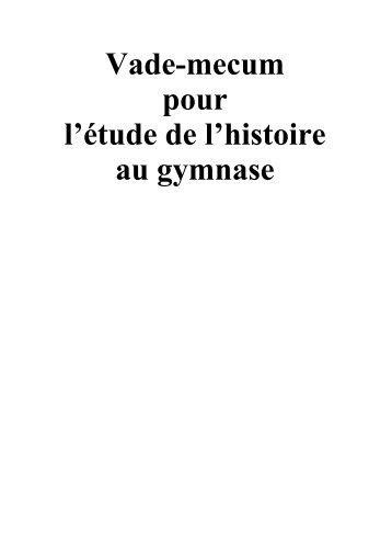 Vade-mecum - Gymnase du Bugnon