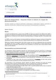 Gels de kétoprofène : mesures visant à réduire le risque ... - Esculape