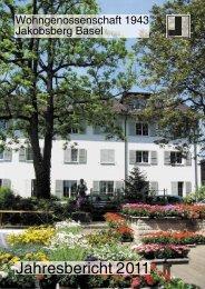 Jahresbericht 2011 - WG 1943 Jakobsberg