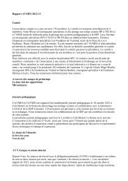 Rapport AD SPV 2012-2013 - AVMES