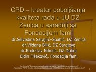CPD – kreator poboljšanja kvaliteta rada u JU DZ ... - Fondacija fami