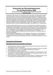 Eckpunkte der Bundesärztekammer für die Reanimation 2006