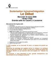Dossier - Société pédagogique vaudoise