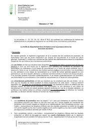 Décision n° 104 Prise en compte des cas limites et des ...