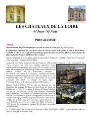 CHATEAUX DE LA LOIRE Timetours -Base pax - IGeSA