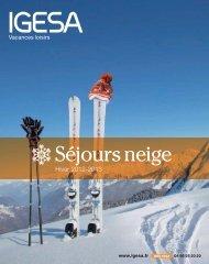Catalogues ADULTES Hiver 2012/2013 - IGESA