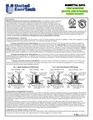 Fire Dampers (Static and Dynamic) - United Enertech