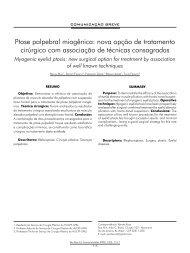 Ptose palpebral miogênica: nova opção de tratamento ... - ABCCMF
