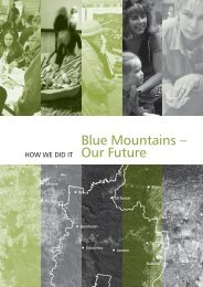 Blue Mountains - Our Future - How We Did It! - Sustainable Blue ...